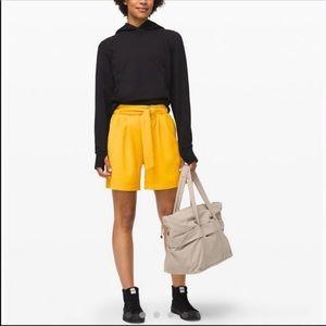 New Lululemon High Rise Noir Yellow Shorts